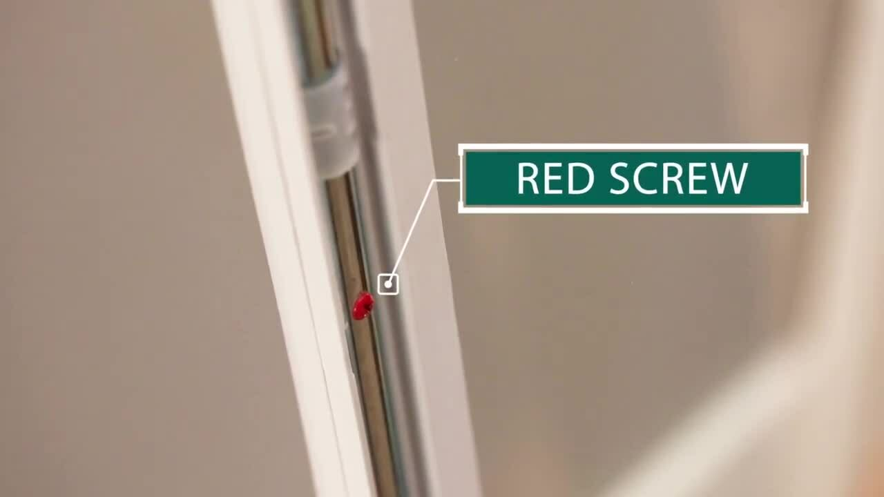 When and How to Remove the Red Screw for Flush Frame Door Glass