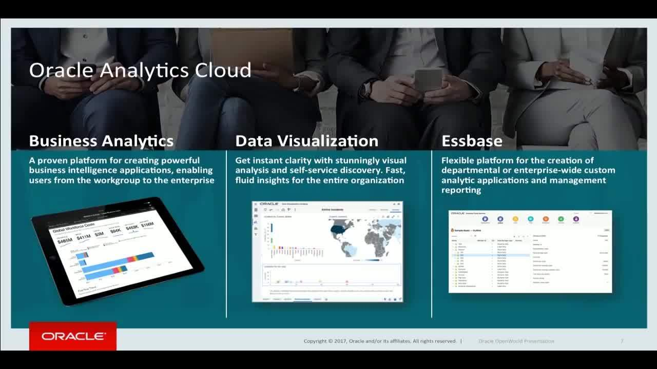 Oracle Analytics Cloud Overview
