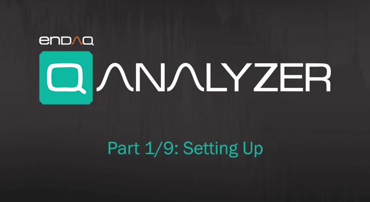 enDAQ Analyzer Part 1/9: Setting Up
