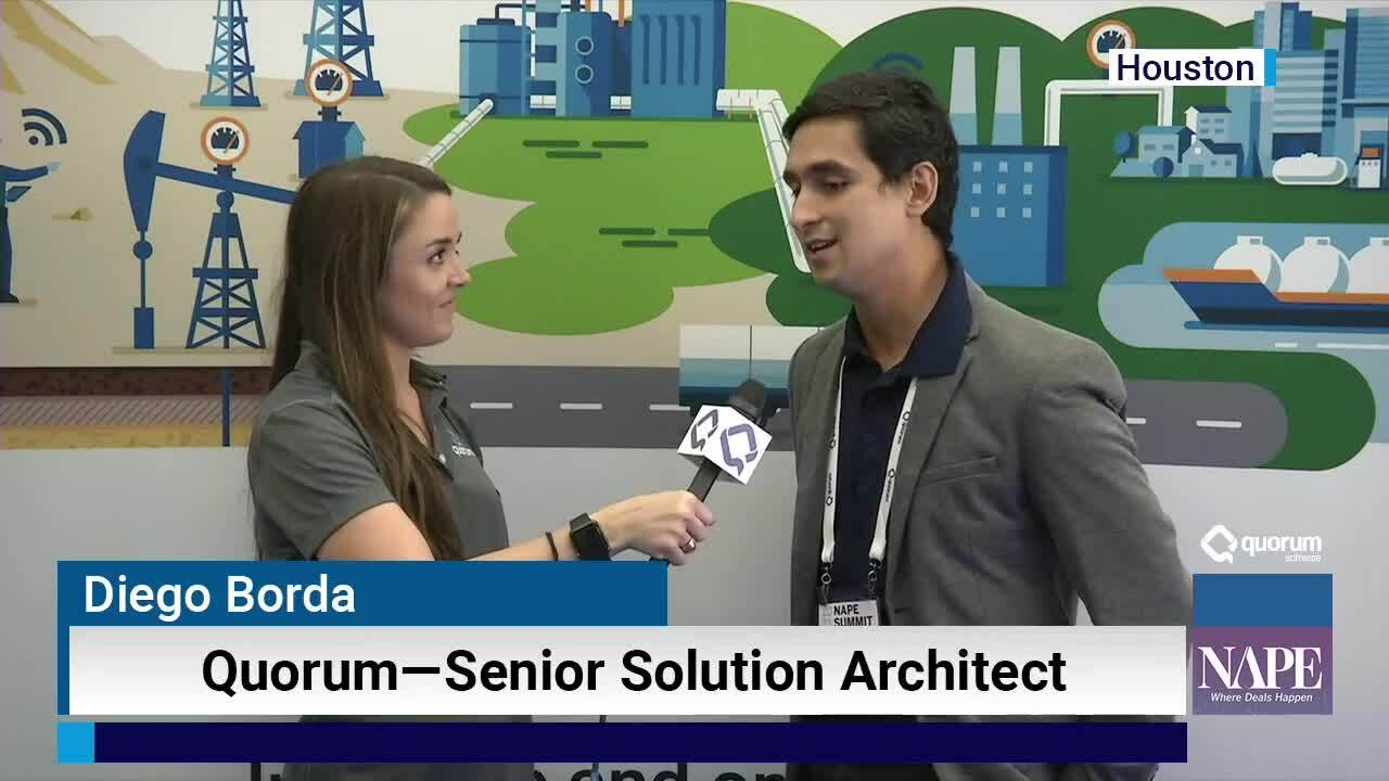 NAPE Interview: Diego Borda, Aucerna Solution Architect
