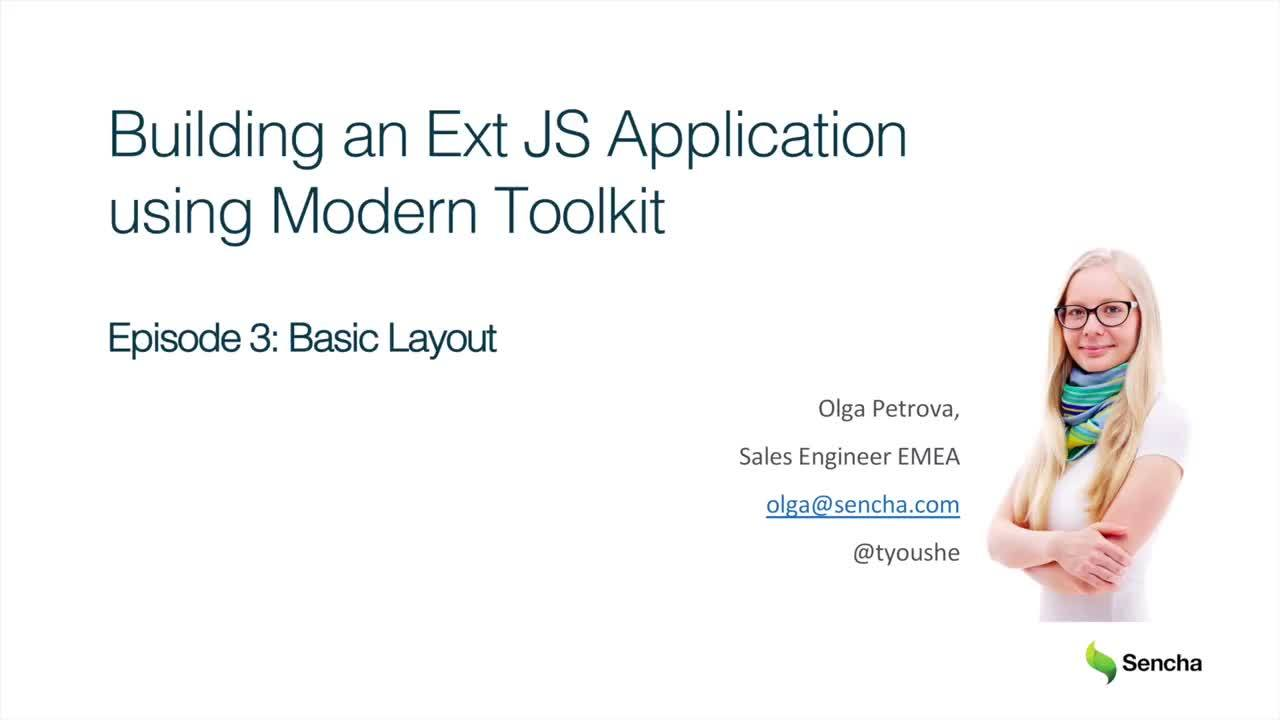 Basic Layout: Building an Ext JS Application Using Modern Toolkit
