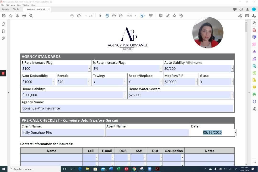 AppX Retention PL Call Sheet Edits