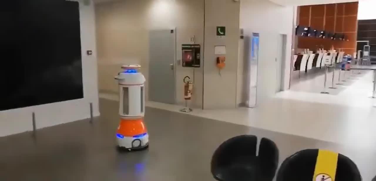 Disinfection Robot Milan Airport