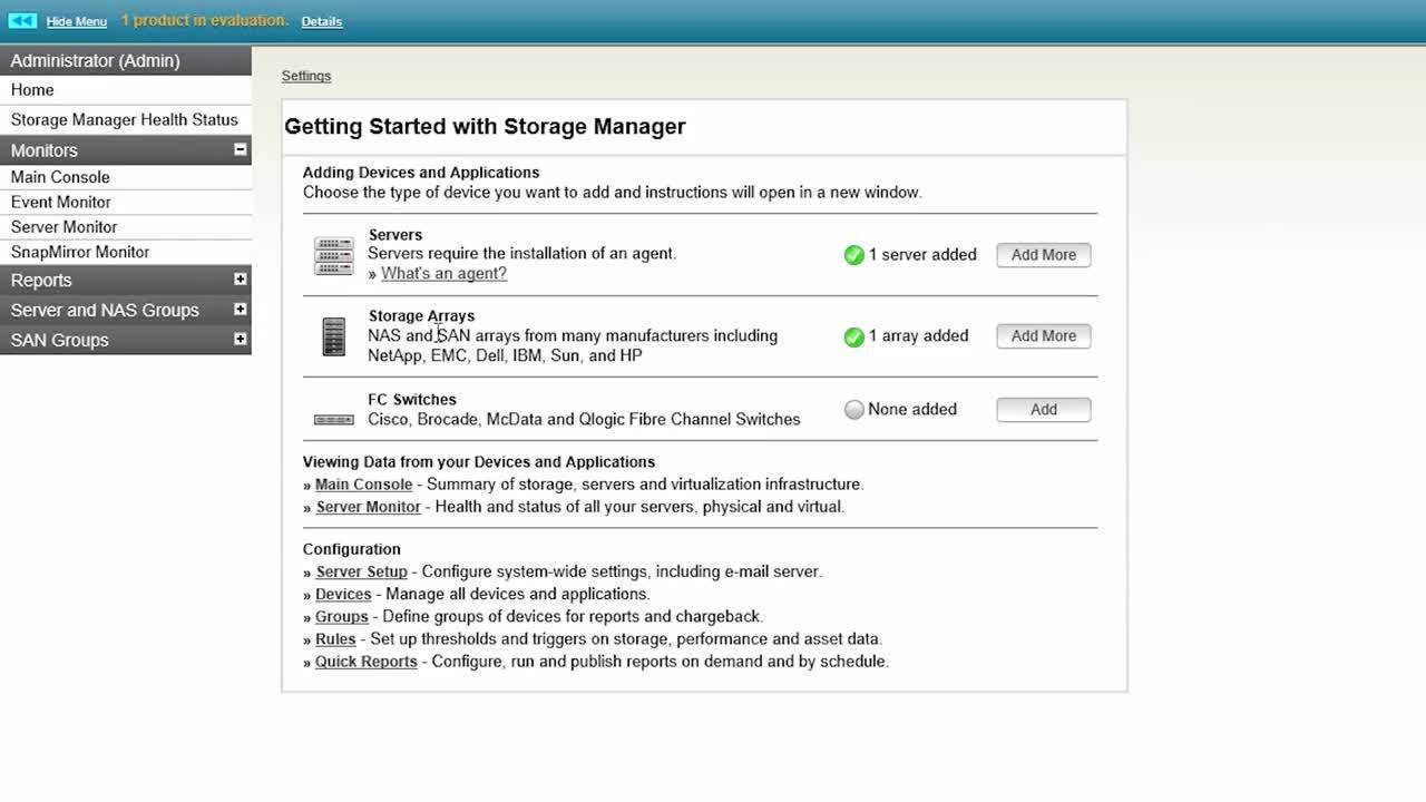 getting started with storage resource monitor installing the rh solarwinds com Office 365 Program Management