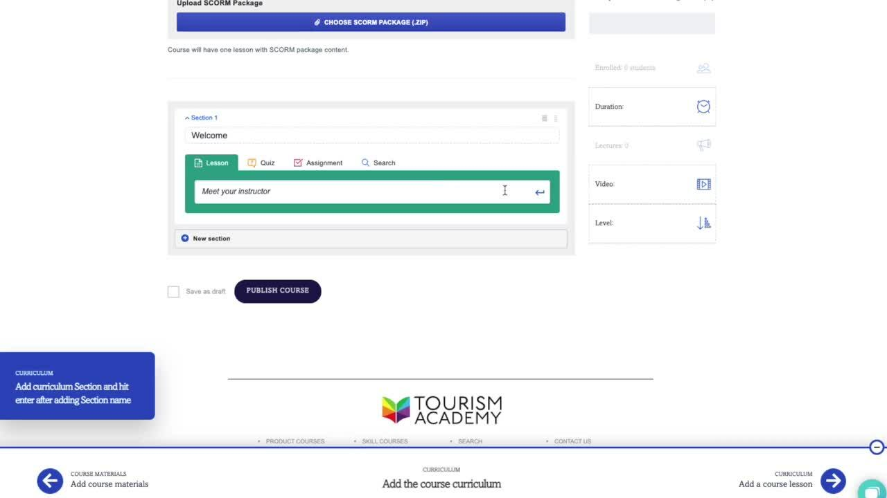 Tourism Academy Skill Instructor QuickStart Webinar