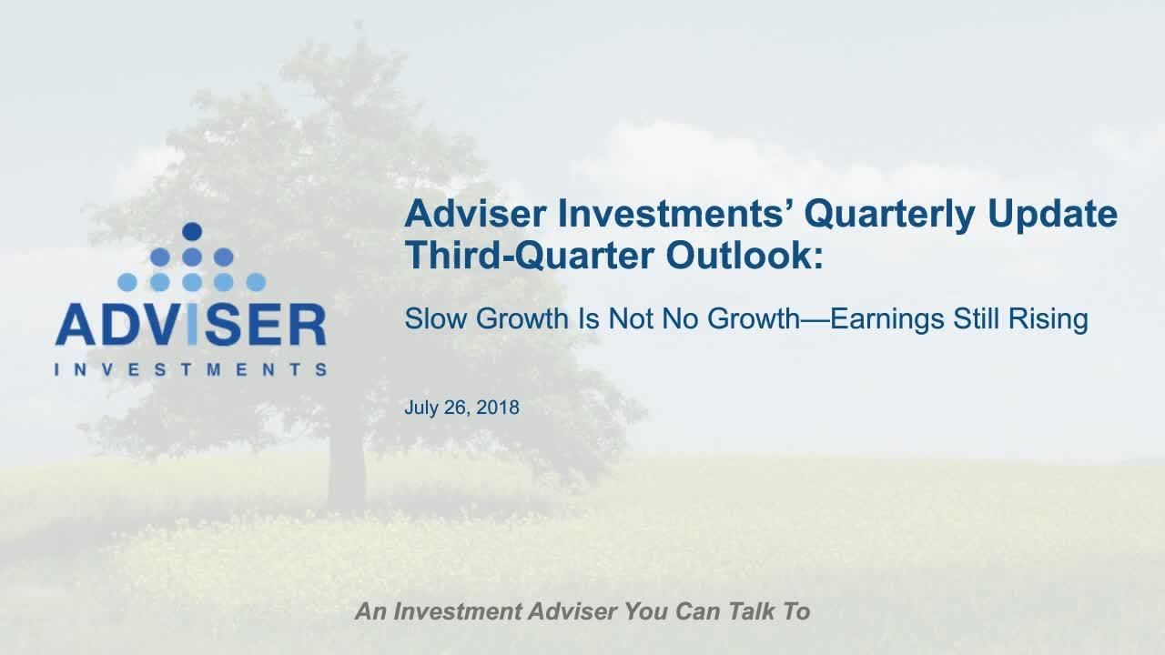 Third-Quarter Outlook: Slow Growth Is Not No Growth—Earnings Still Rising