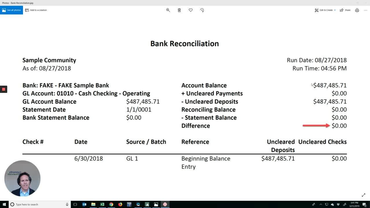 Loom Video - Bank Recon 3-21-19