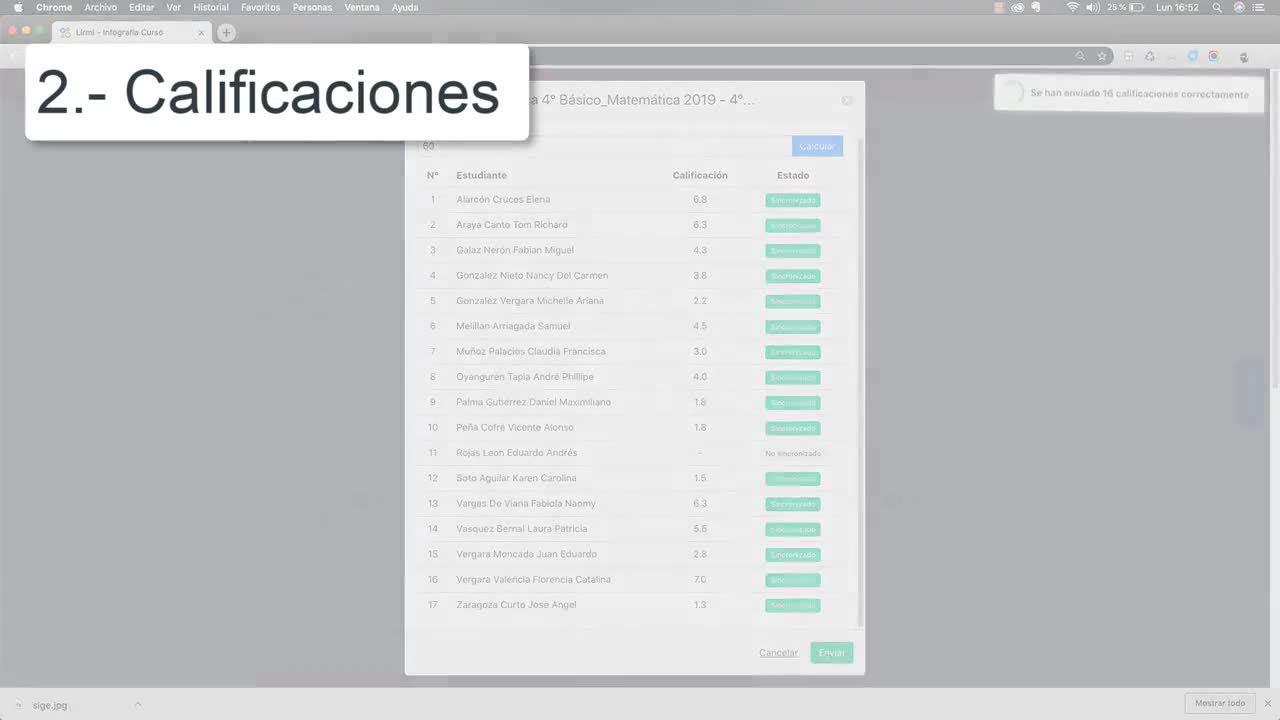 Lirmi Chile - Webdemo Libro de Clases