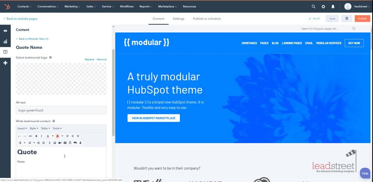 modular-adding-testimonial-slider-to-hero