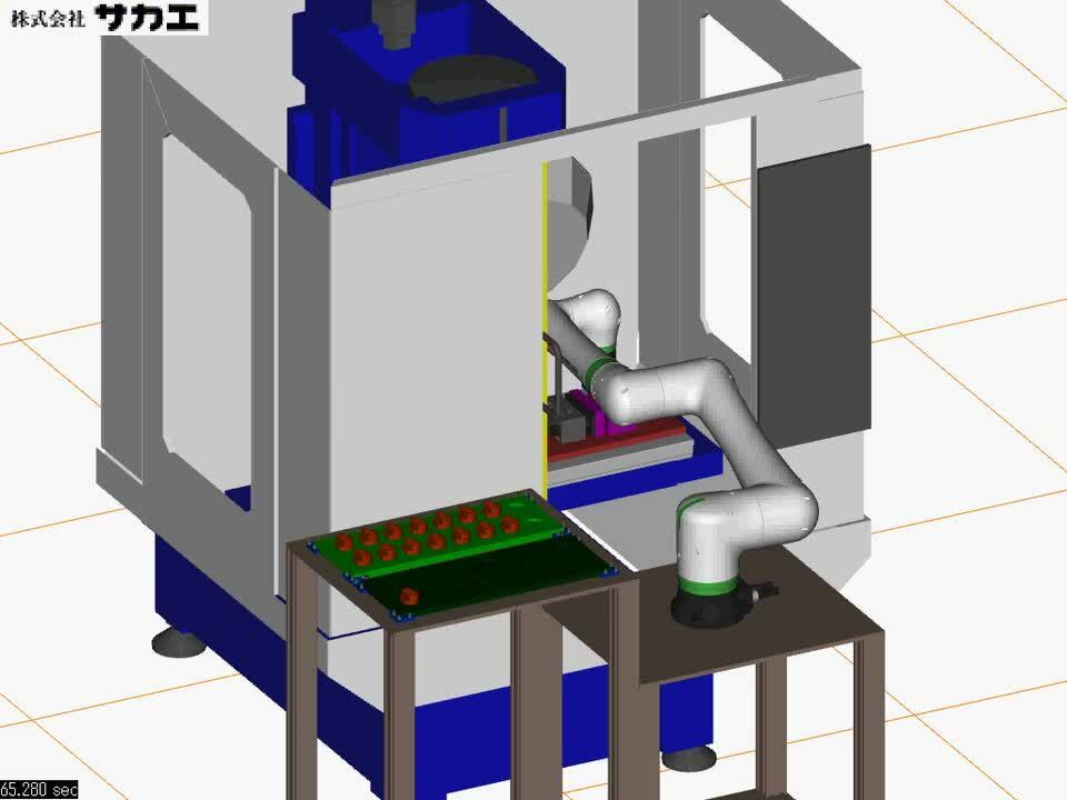 協働ロボットによる加工機ローディング装置