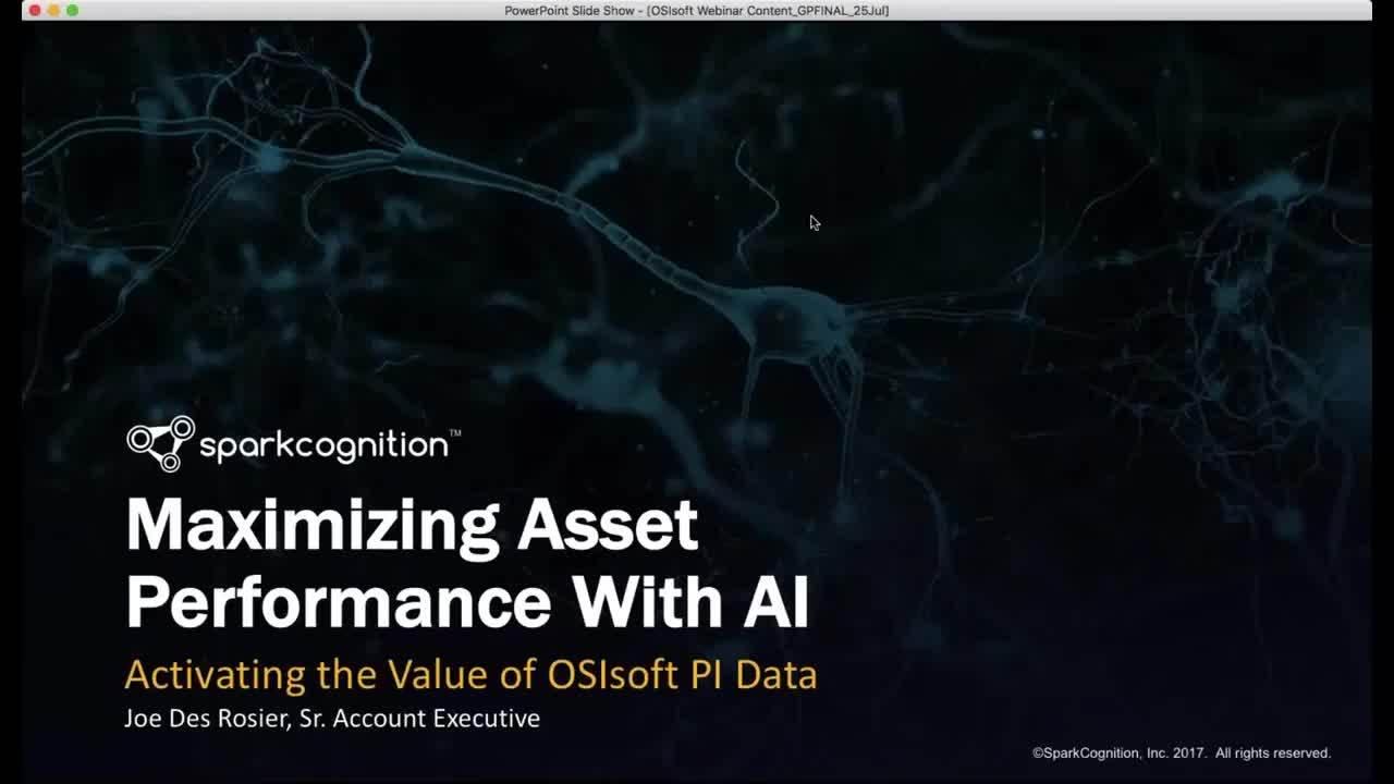 Webinar- Activating the Value of OSIsoft PI Data