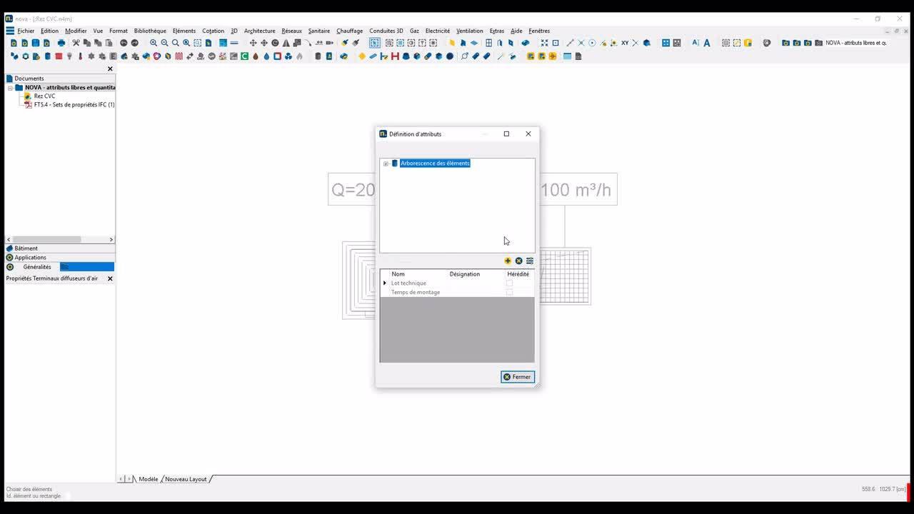 Novatip 12 - Export des données spécifiques du projet vers Excel