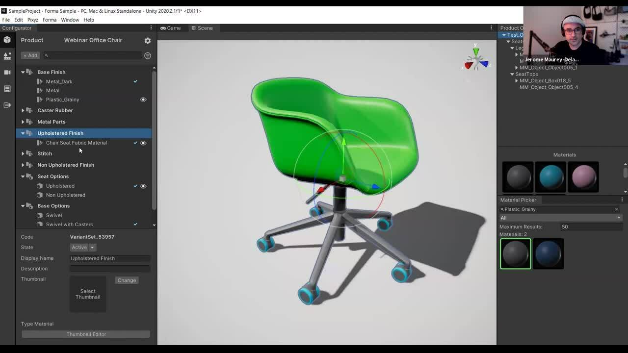 Unity Forma – Adding material finishes to your project