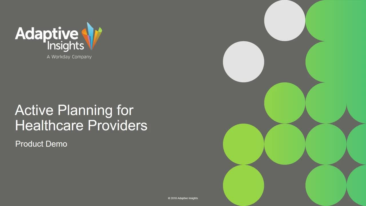 Screenshot for Active Planning for Healthcare Organizations