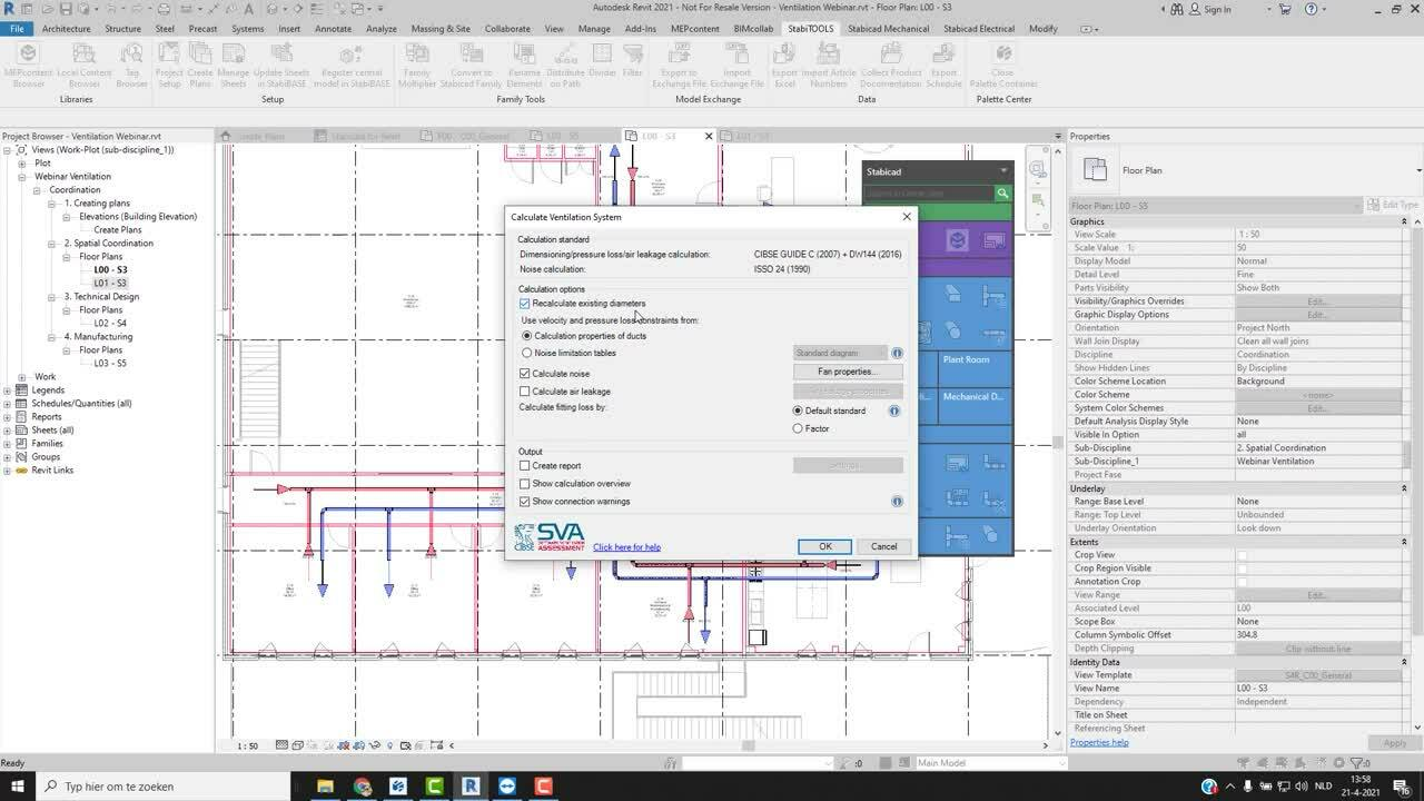 [On demand webinar] Optimise your mechanical ventilation workflow with Stabicad for Revit