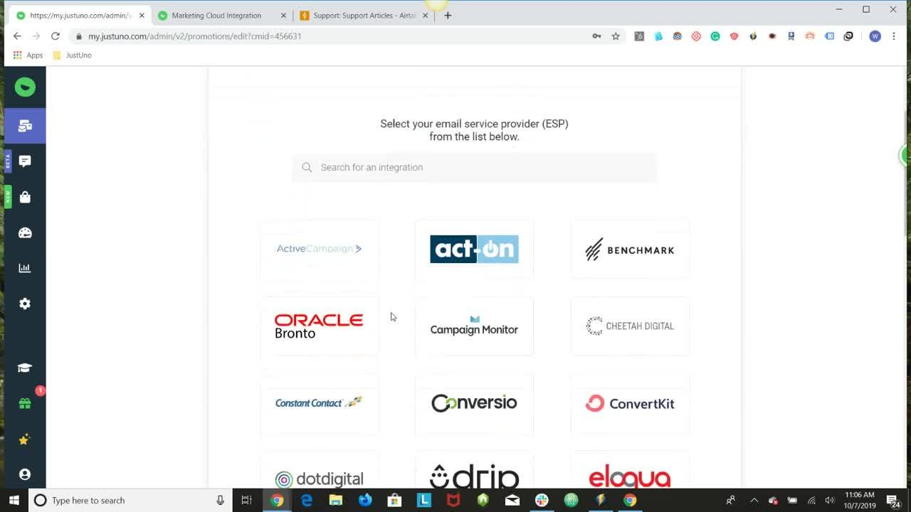 Marketing Cloud integration