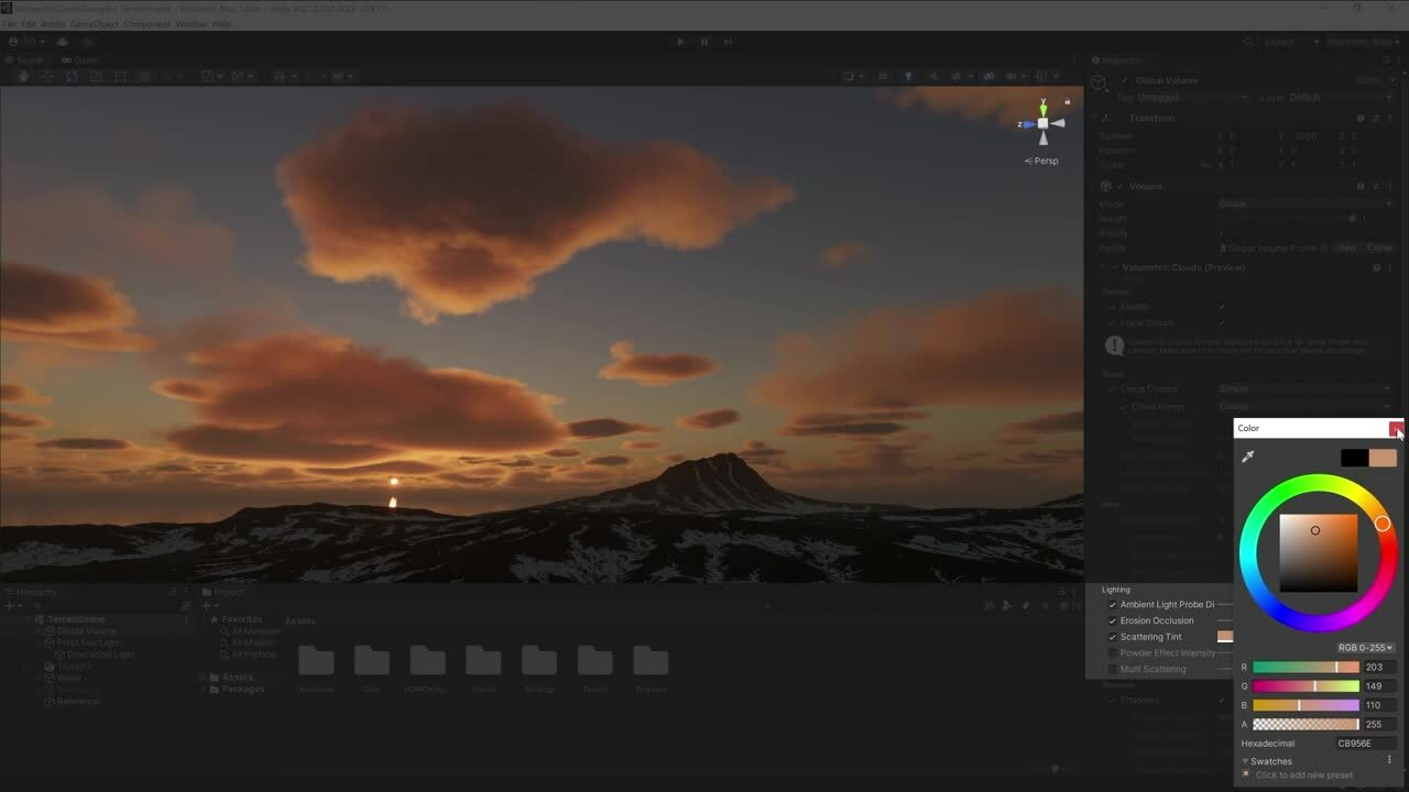 New Lighting Features in Unity 2021.2- Volumetric Clouds, Lens Flare and Light Anchor
