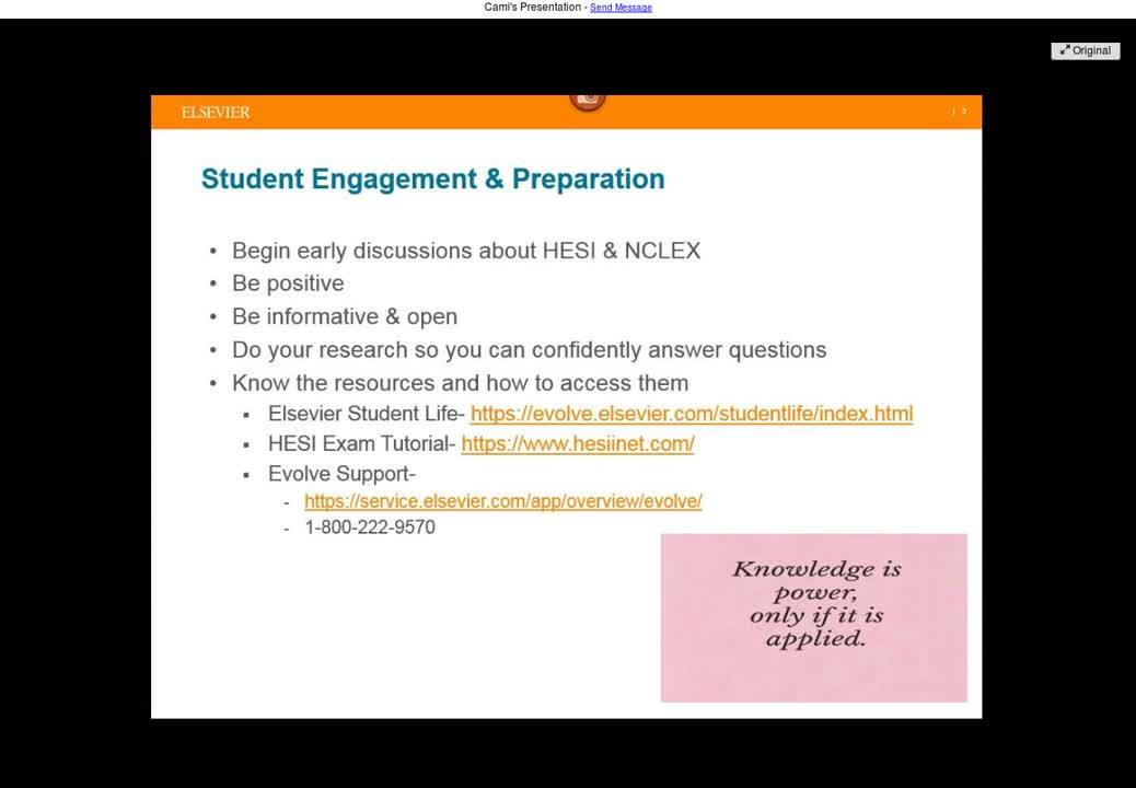 Student Success and Engagement with HESI