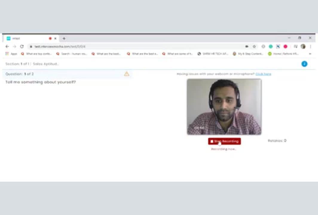 Intervue- video interviewing platform