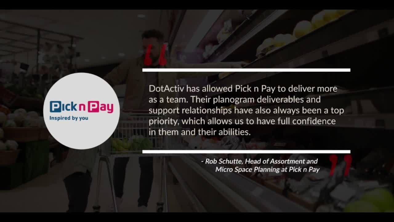 DotActiv Pick n Pay Testimonial