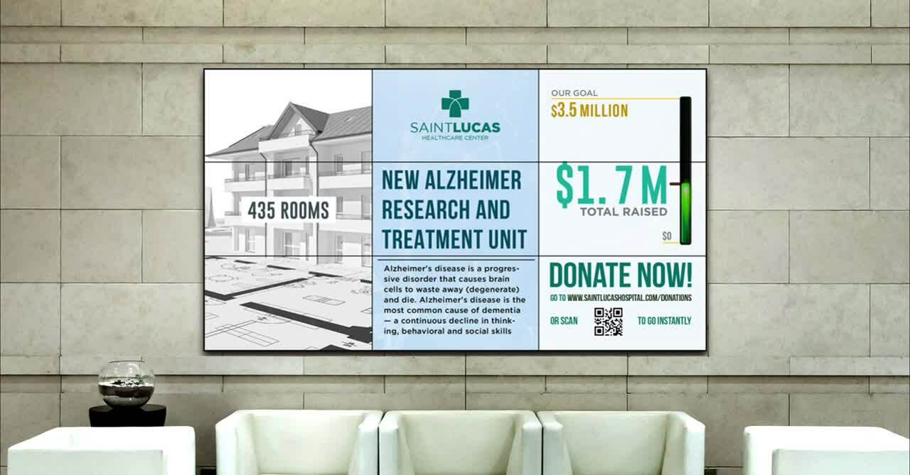 digital donor recognition wall