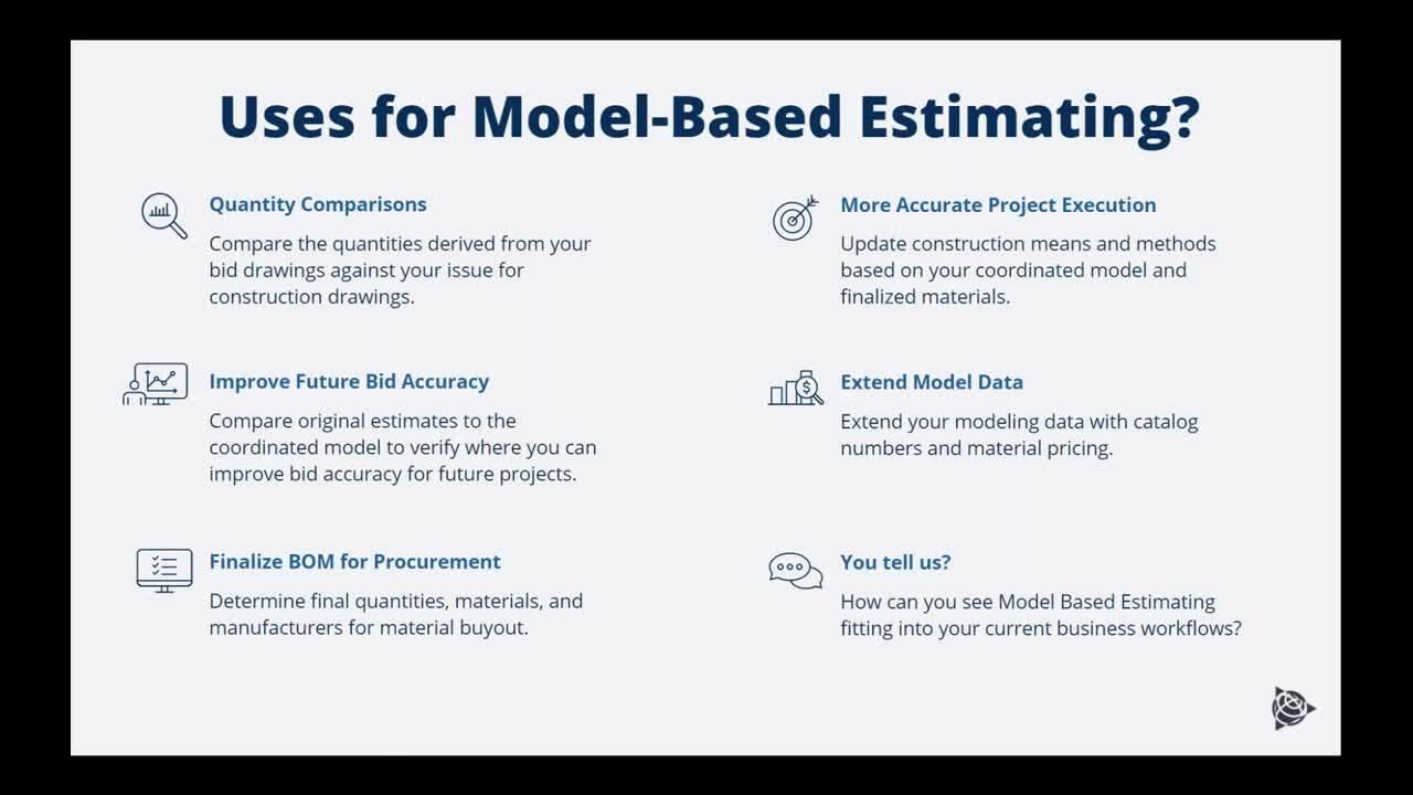 Model-Based Estimating Kickoff Webinar