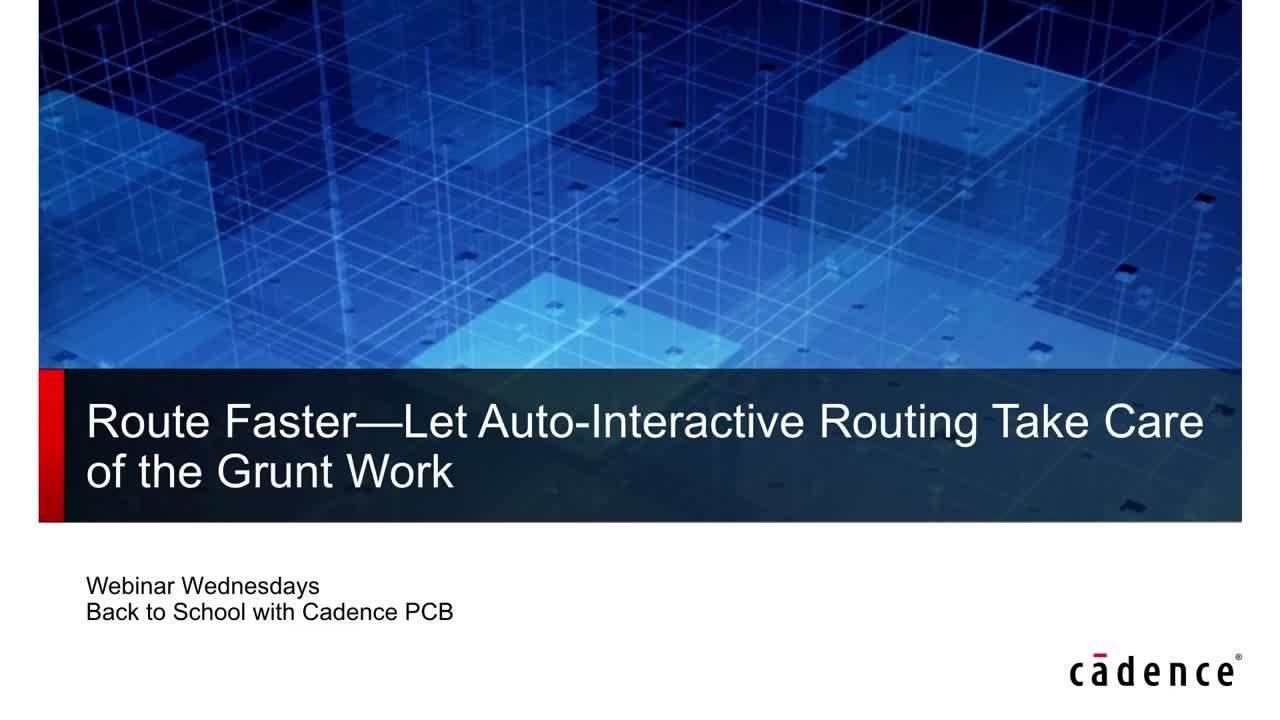 Webinar: Route Faster