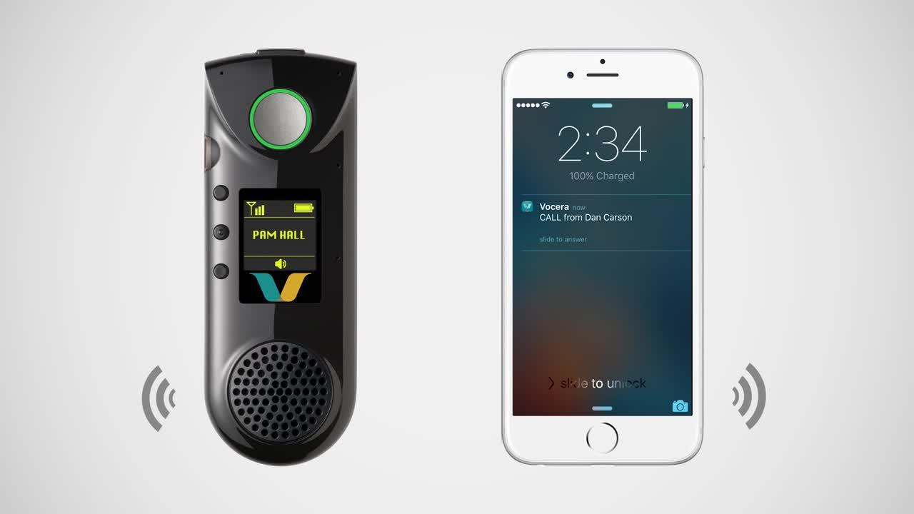 Badge To Smartphone Calls Vocera Product Features