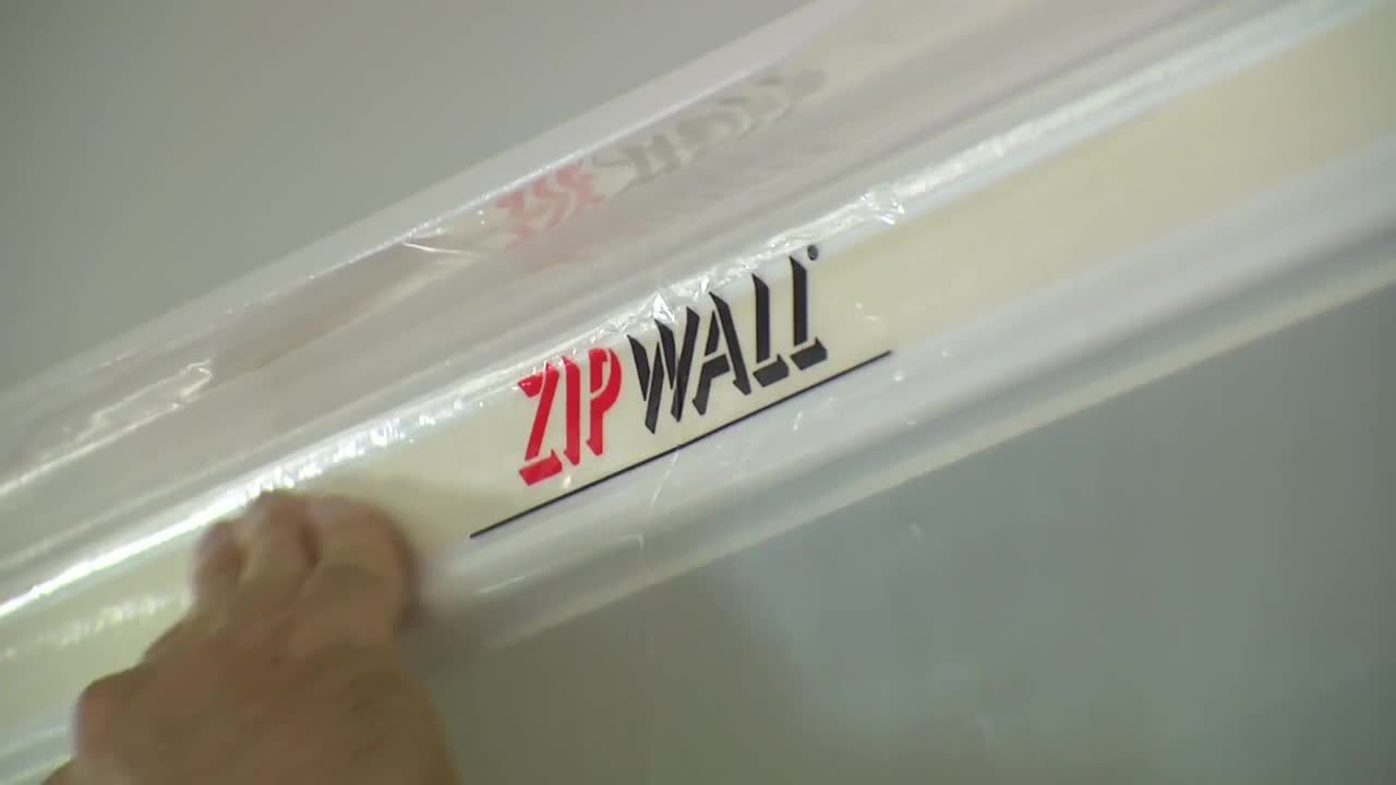 ZipWall Dust Barrier ZipDoor Kits - How to Cover Doors during Remodeling or Construction
