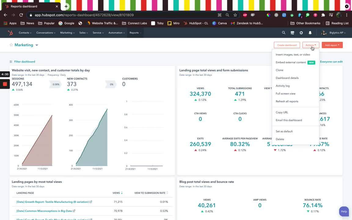HubSpot Tips _ How to add external content to reporting dashboards