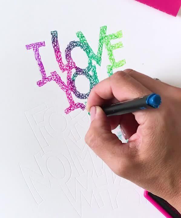 Chameleon Fineliners writing calligraphy