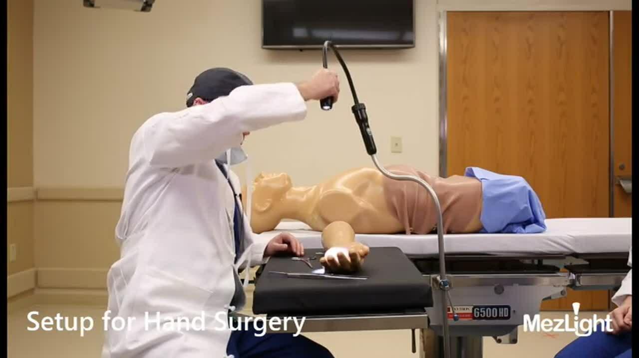 210426-Mezlight-Video-setup for hand surgery