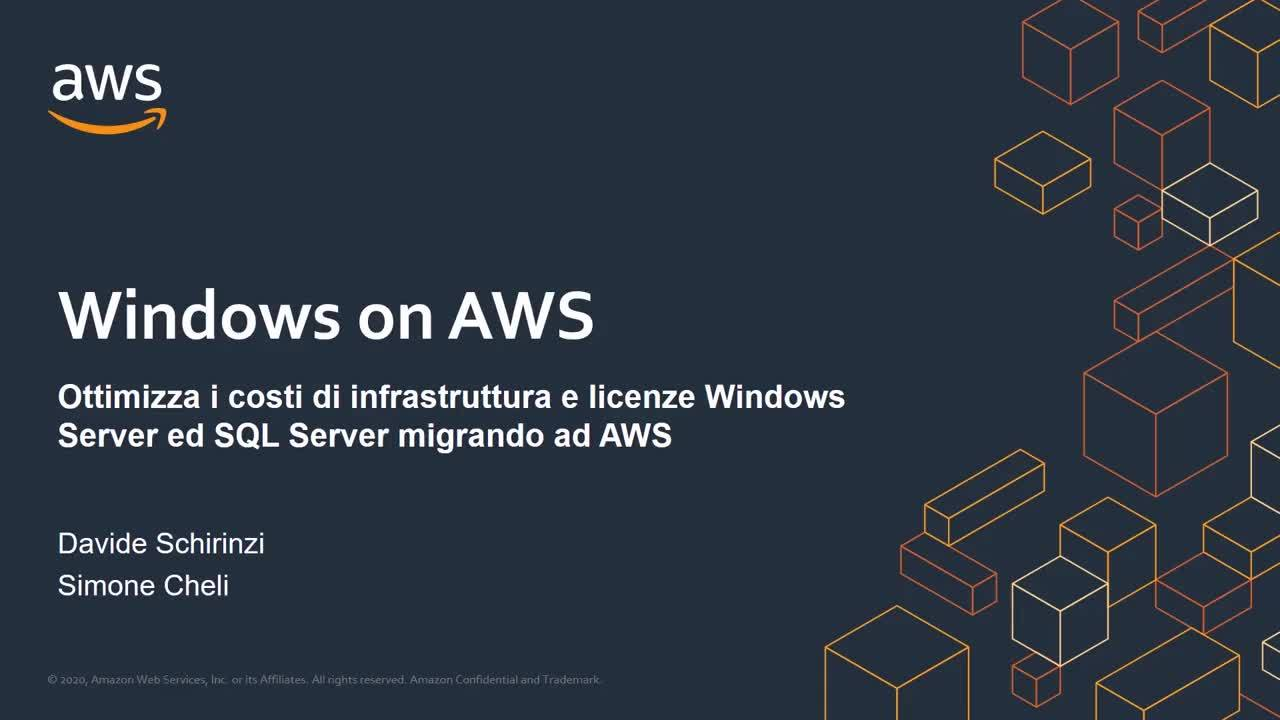 Ottimizza i costi di infrastruttura e licenze Windows Server e SQL Server migrando a AWS