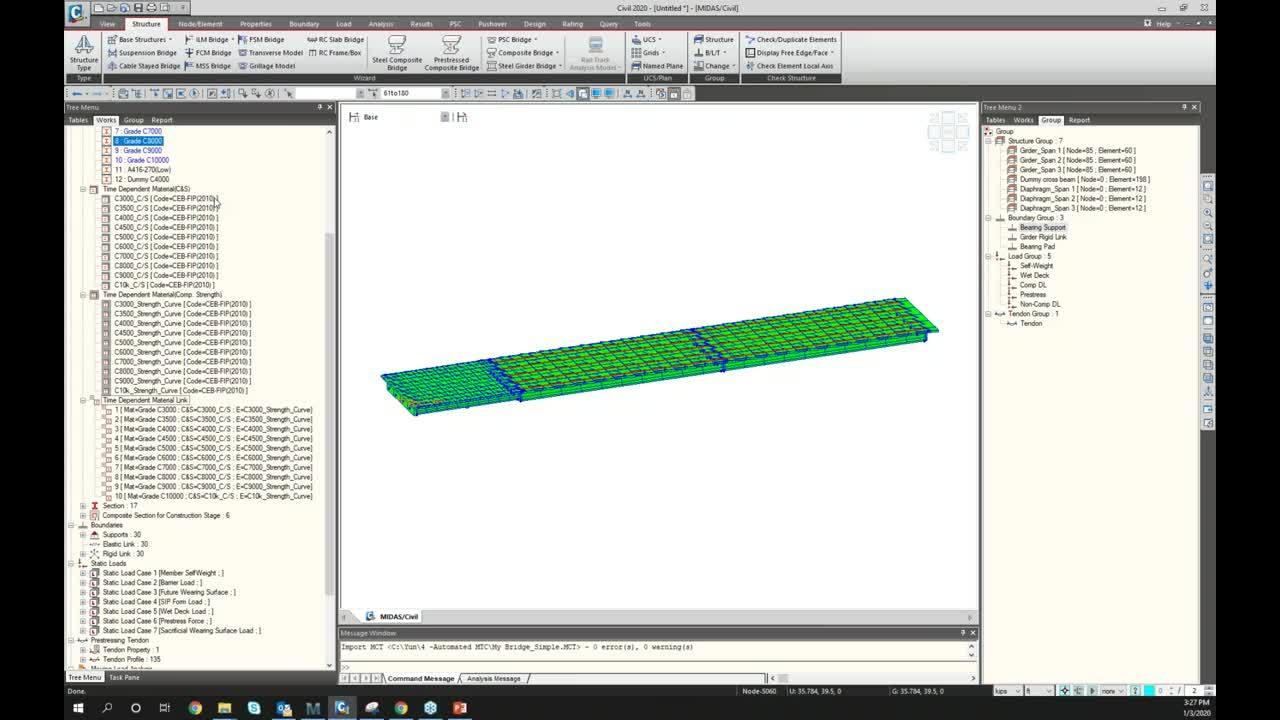 2020-01-03 15.00 [MIDAS] Automation of Refined Grillage Model for Multi-Girder Bridges