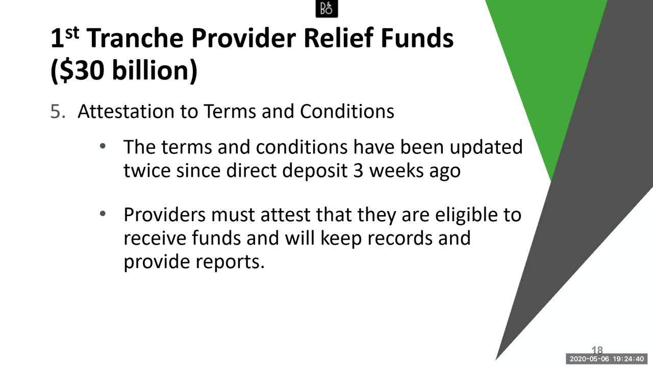 Strings Attached- What Doctors Need to Know About The CARES Act Provider Relief Fund Payments Webina