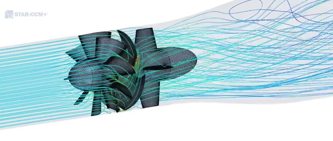 Hydroturbine-CFD-Analysis-Streamlines-Oblique