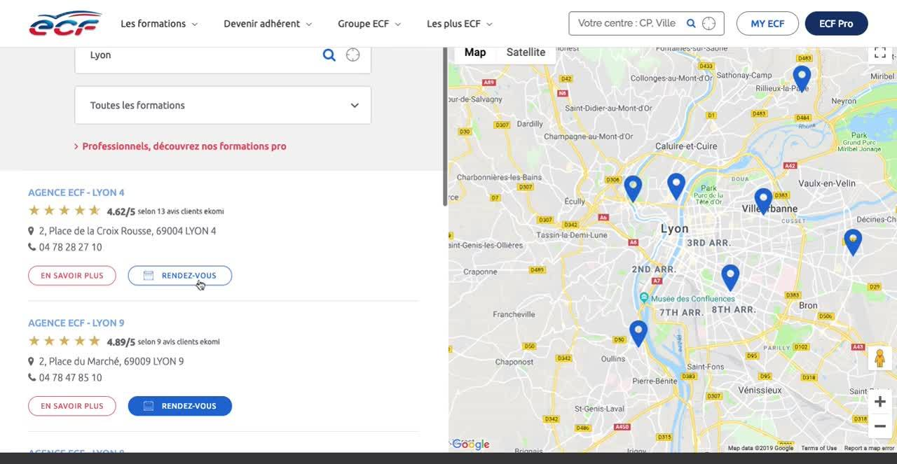 ECF Store Locator with Agendize