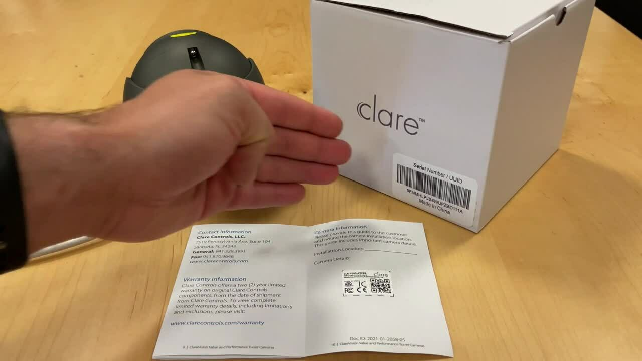 Where to find the default password for ClareVision devices