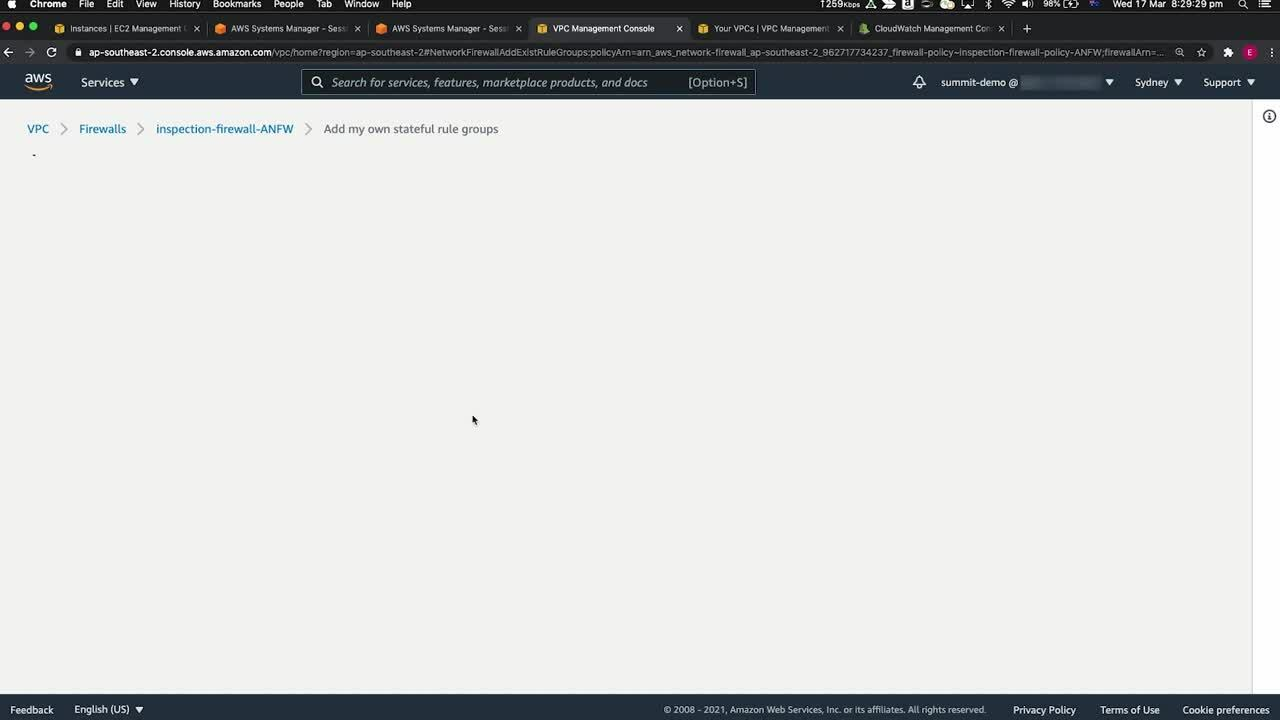 SEC303_AWS+network+firewall+and+network+security+in+Amazon+VPC_Demo