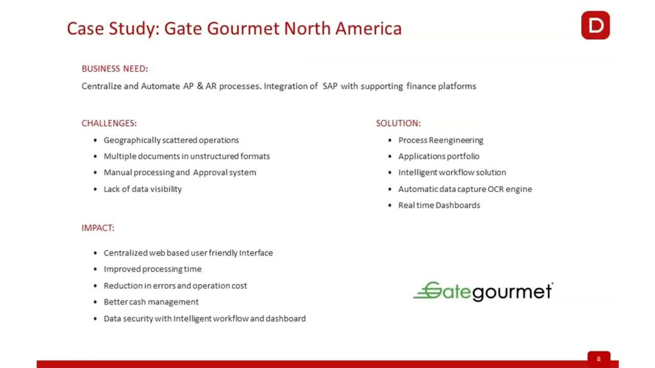 Casestudy - How Gate Gourmet Added Efficiency