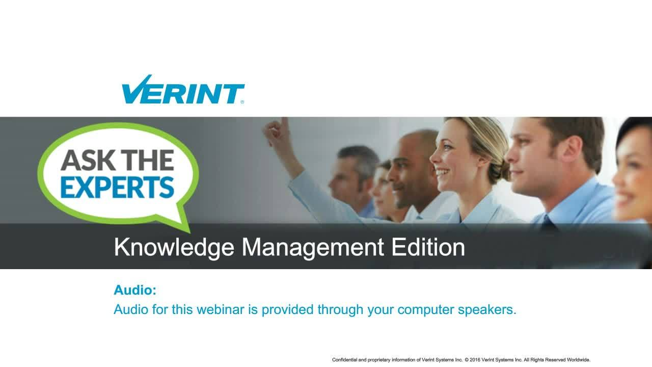 Ask the Experts - Knowledge Management Edition