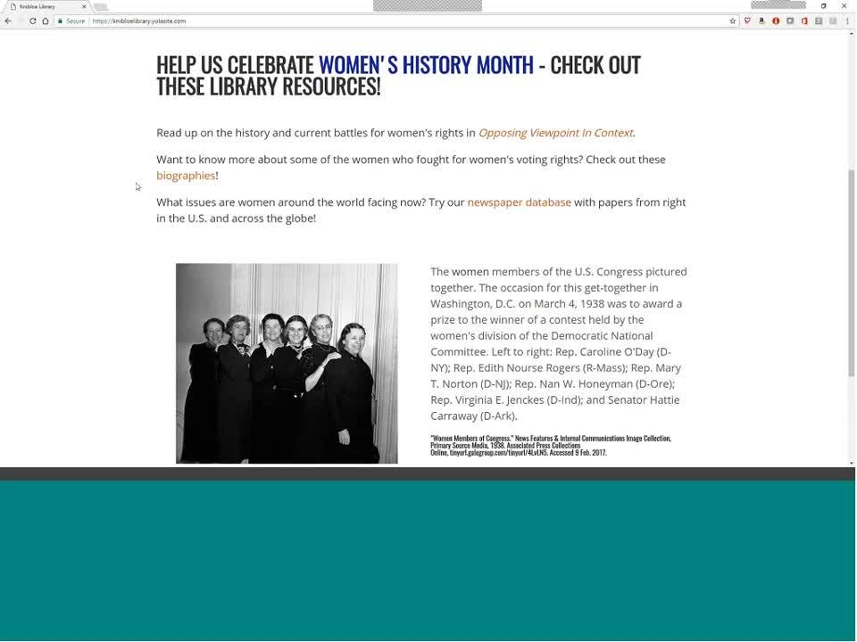 For NOVELNY: Prepare for Women's History Month with Your NOVELNY Gale Resources Thumbnail