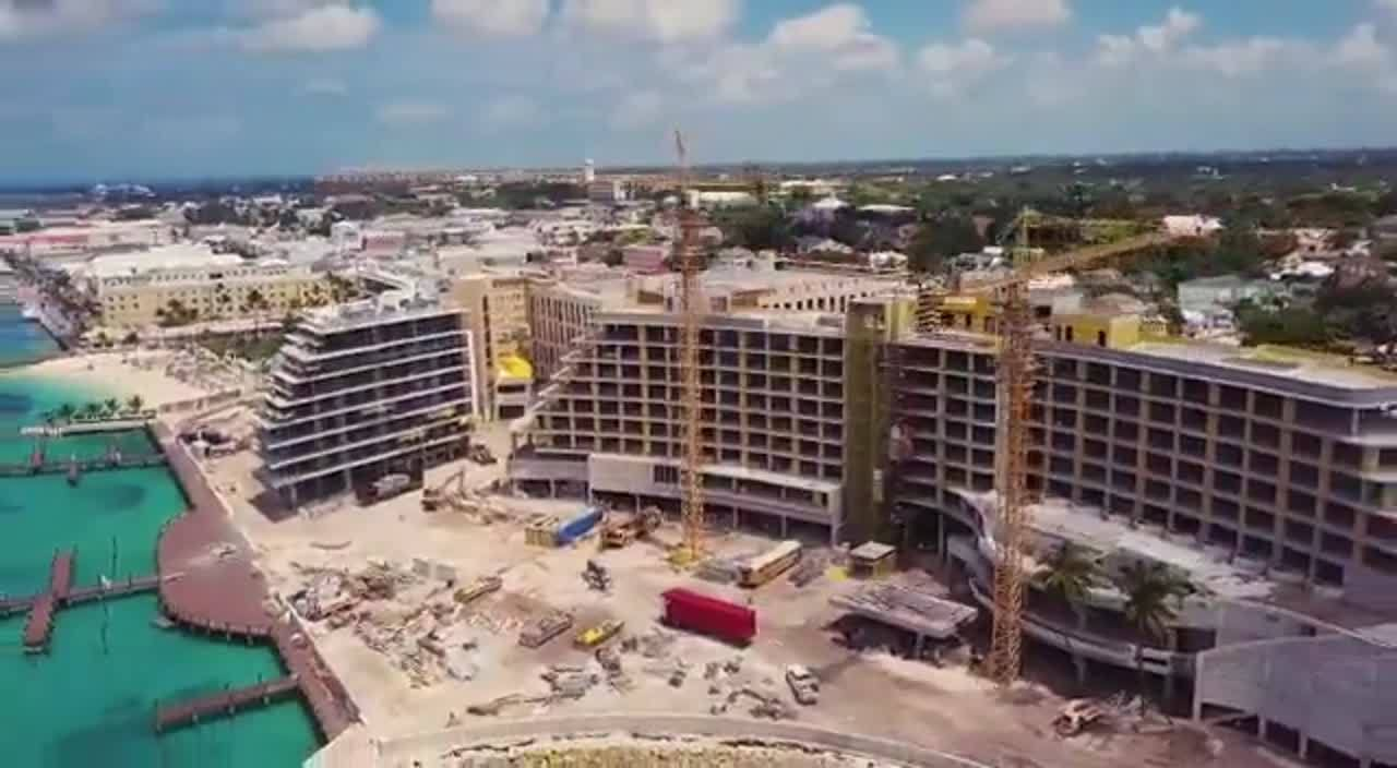 Drone video of construction June 2019