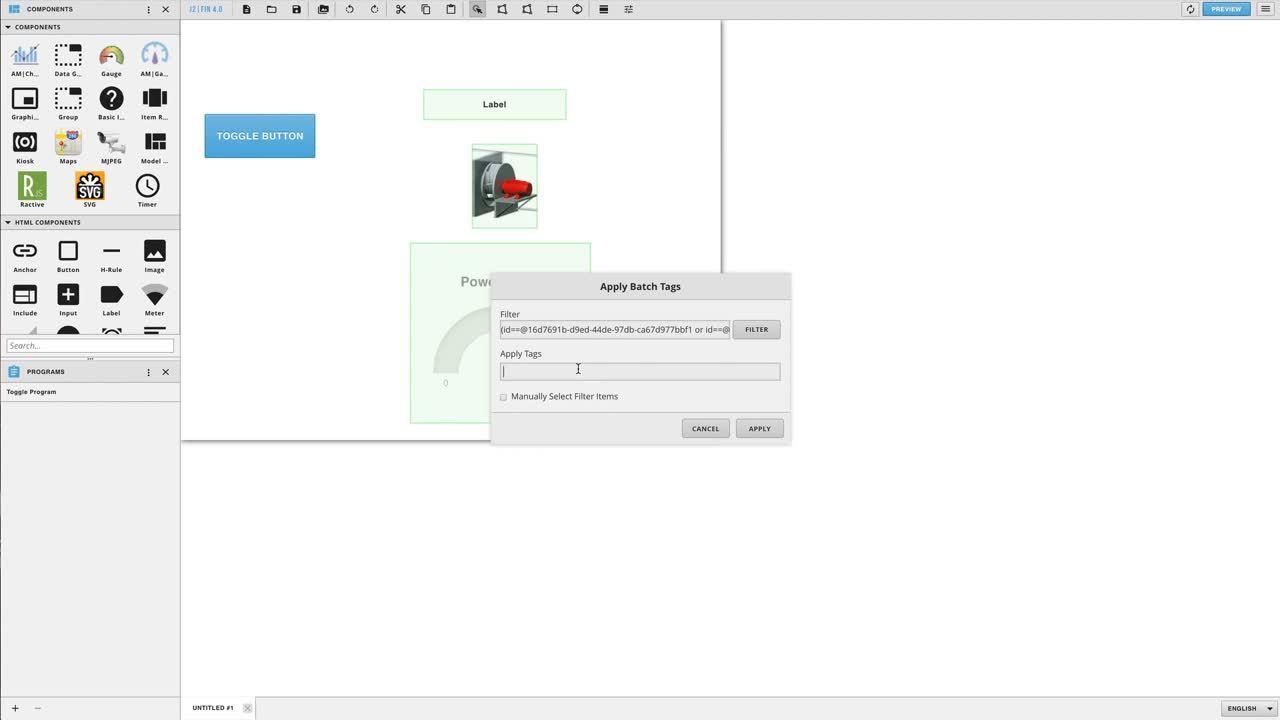 FIN Stack 4.0 - Graphics Builder - Creating a Toggle HideShow Program (Full Walkthrough)