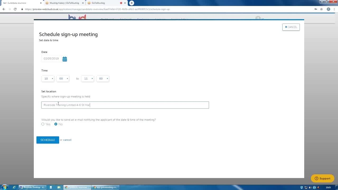 05. Scheduling a Sign Up Meeting or Editing a Scheduled Sign Up Meeting