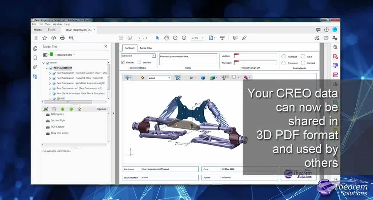 Creo to 3D PDF save as ondemand