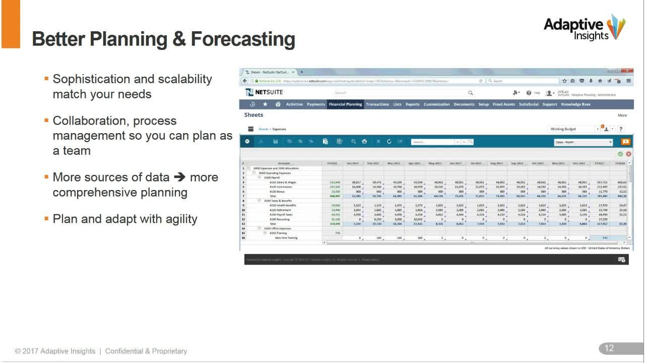 Screenshot for Five Ways to Get More from NetSuite with Adaptive Insights