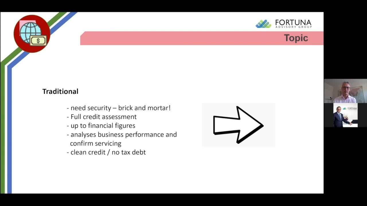 The Fortuna Insights Seminar - How to finance your business and alternative measures
