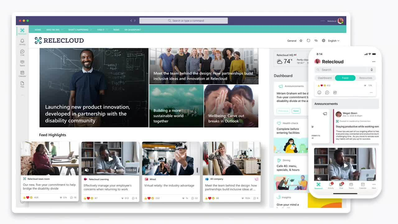 Microsoft Viva Connections - Discover news and conversations2