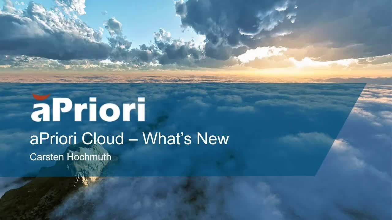 What's New in aPriori 2019 R2 Cloud